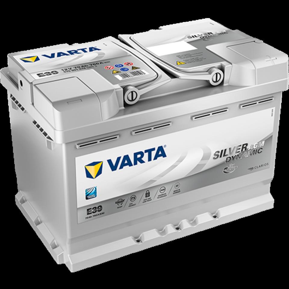 Аккумулятор 6СТ-70 VARTA Silver Dynamic AGM о.п. пуск.ток 760 А (278х175х190) клеммы евро